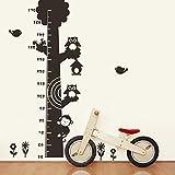 Malilove Cartoon Eule Höhe Für Kinder Haus Wand Aufkleber Schwarz