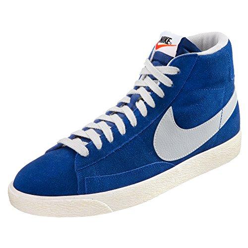 Nike Blazer mid premium vintage suede 538282400, Herren Sneaker Blau