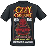 Ozzy Osbourne (Black Sabbath) - an Evening On The Crazy Train - Official Mens T Shirt