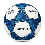 Hetoo Wasserdichter Fußball. Bester Trainings- und Spielball für Erwachsene und Kinder - Größe in 5 4 3