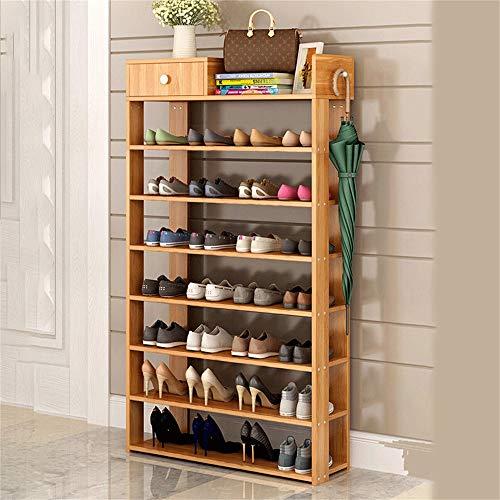 LiSun Schuhregal Mehrschichtig Einfacher Schuh Staubdicht Schuhregal Acht Schichten 75CM Ahorn Farbe...