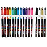 POSCA Leuchtstift-Set PC-1MR, 16 Stück - Alle Farben