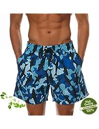 ZiXing Elegante Bañadores para Hombre,Secado Rápido Verano Ocasional De Los Hombres Imprimió Transpirable Pantalones