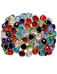 JDX Multicolor Crystal Bracelet for Girls and Women Size_Adjustable