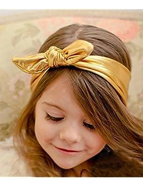 Baby per bambina, estensione orecchini arco fascia turbante nodo Coniglio fascia Headwear capelli aggiunte