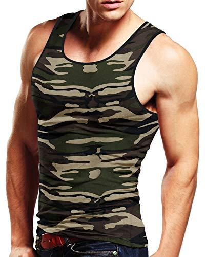 MODCHOK Homme Débardeur T-Shirt sans Manche Maillot Strech Coton Couleur U