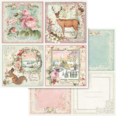 Pink Punch Brads (Stamperia Double-Sided Cardstock 12