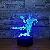 3d ballon de rugby Illusion lampe de lumière de nuit 7 couleurs changeantes Touch USB Table Nice Cadeau jouet Décoration