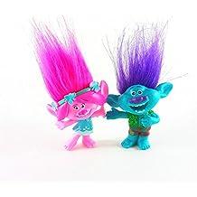 SAMANIS Trolls Poppy & Branch Figure Set-2pcs/lot 4*10CM
