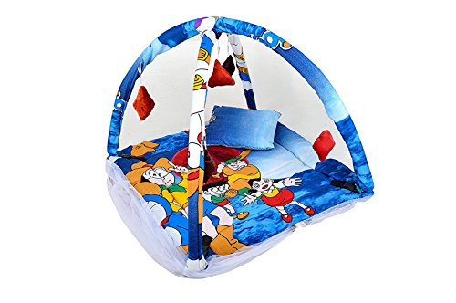 Feathers-Nature's Touch Cotton Doremon Mosquito net cum play gym By SR EXIMS (0-6Months)