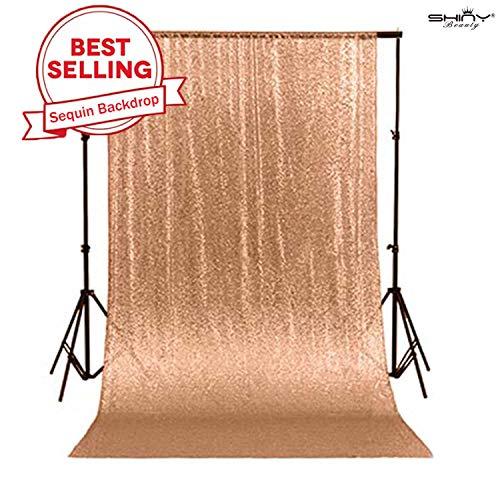 ShinyBeauty sequin backdrop Rose Gold 10x10