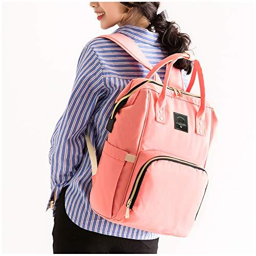 GSDZN - Sac d'allaitement Momie Maternité Nappy Marque Grande Capacité Sac pour Bébé Sac à Dos De Voyage Designer Sac d'allaitement pour Soins De Bébé,Pink