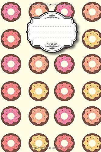 Notizbuch: 96 blanko Seiten I ca. Din A5 I blanko I Größe 15,2 x 22,6 cm I Kuchen Backen Kekse I ideal für Notizen, Termine, Tagebuch, Skizzen, Planer oder Kalender