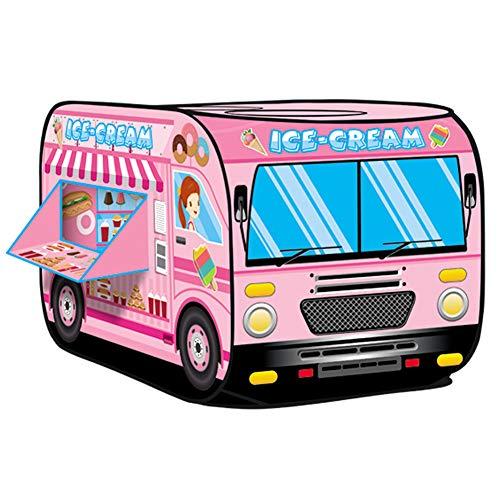 t für Kinder Mädchen Prinzessin Eiscreme Eiswagen Spielhaus Kinderzelt mit Zwei Fenster 70cm Hoch Draußen Camping Reisen (Rosa) ()