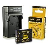 Caricabatteria + Batteria Klic-5001 per Kodak Easyshare DX6490 | DX7440 | DX7590 | DX7630 | P712 | P850 | P880 | Z730 | Z760 | Z7590