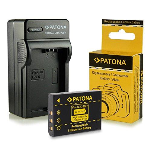 3in1 Ladegerät + Akku Klic-5001 für Kodak Easyshare DX6490 | DX7440 | DX7590 | DX7630 | P712 | P850 | P880 | Z730 | Z760 | Z7590