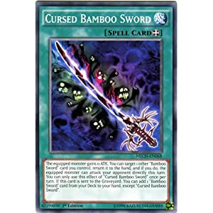 YuGiOh : NECH-EN068 1st Ed Cursed Bamboo Sword Short Print Card - ( The New Challengers Yu-Gi-Oh! Single Card )