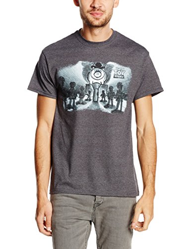 Disney Herren T-Shirt Toy Story Evil Dr. Pork Chop Speech Grau - Grey (Tweed)