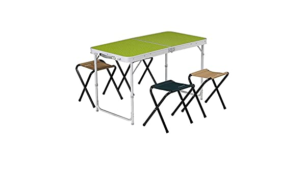 Decathlon Quechua 4 Seater Camping Table With 4 Built In Folding