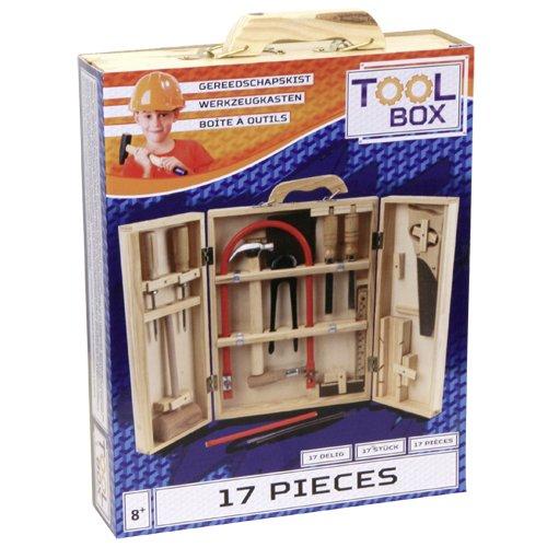 Speelgoed 220 - Kinder-Bastelset - Werkzeugkasten 17 Stück