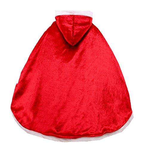 Proumhang Prinzessinnen-Umhang Prinzessinnen-Cape Prinzessin-Kostüm Umhang mit Kapuze für Kinder Rot 120cm