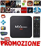 SMART TV BOX MXQ PRO 4K PENTA CORE ANDROID 7.1.2 4GB RAM 32GB ROM IPTV +TELECOMANDO