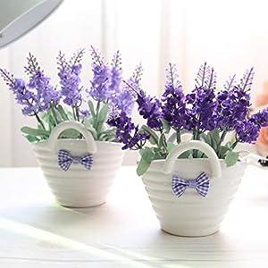 Recoproqfje Planta Artificial, 1 Unid. Flor de Lavanda Artificial Manipulada. Morado Oscuro