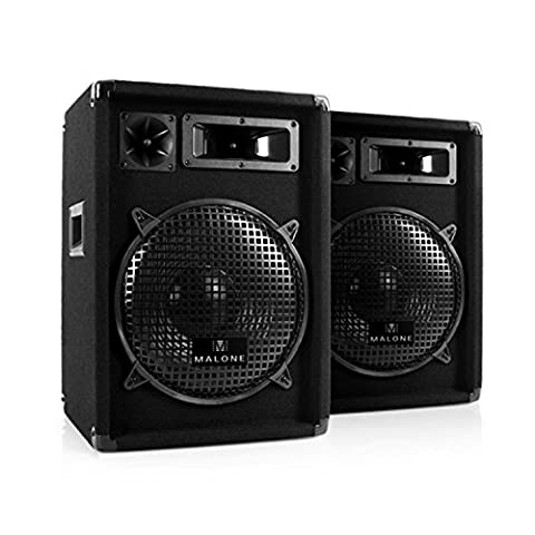 Paar Malone 2x PW-1222 3-Wege PA Box Lautsprecher 12 1200 Watt