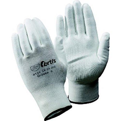 Gant en tricot avec polyuréthane à tricot fin, blanc, Taille : 11 (par 10)