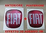 500rot Kit Aufkleber Stickers Logo Wappen Halter Fiat Nuova 500vorne + hinten geharzt Effekt 3d Aufkleber 3m Motorhaube Kofferraum