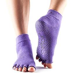 Toesox–Calcetines Calcetines de dedos para yoga/pilates con asas