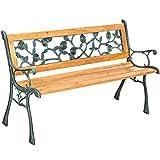 TecTake Banc de jardin en bois | diverses modèles ('Marina' 128 x 51 x 73cm | no. 401424)
