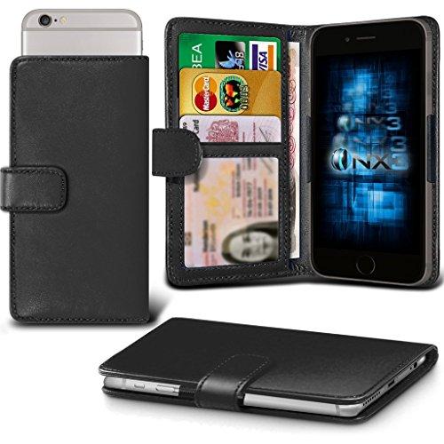 (Black) Oppo Joy Plus Hülle Abdeckung Cover Case schutzhülle Tasche Verstellbarer Feder Mappe Identifikation-Kartenhalter-Kasten-Abdeckung ONX3