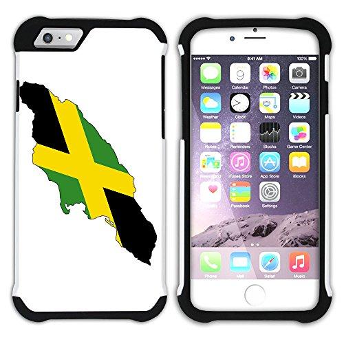 Graphic4You Jamaika Jamaikanisch Flagge Hart + Weiche Kratzfeste Hülle Case Schale Tasche Schutzhülle für Apple iPhone 6 Plus / 6S Plus Design #3