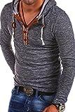 Carisma Longsleeve Hoodie mit Knopfleiste T-Shirt 3136 [Dunkelblau, M]