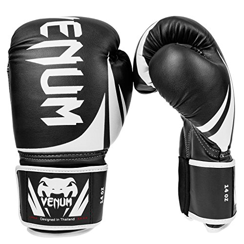Venum Erwachsene Boxhandschuhe Challenger 2.0, Black, 14 oz, EU-0661 Kickboxen Training-equipment