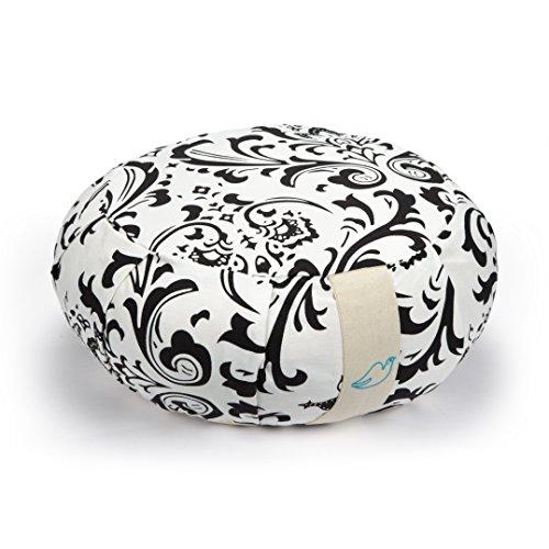 Zafu de méditation de Yoga avec colombe Remplissage en coton doux, Homme, noir/blanc