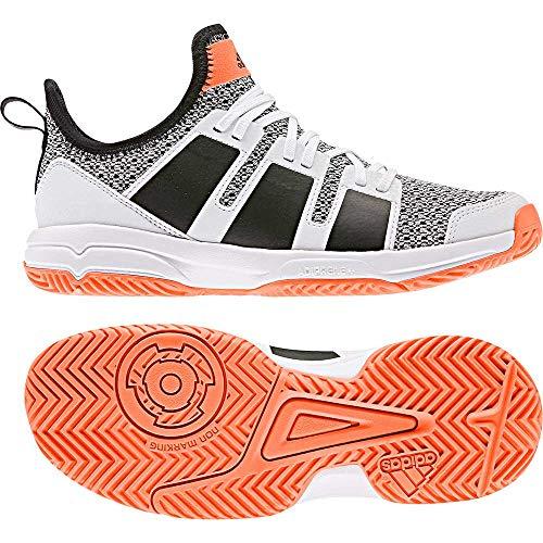 adidas Stabil Jr - ftwwht/cblack/sorang, Größe:5.5