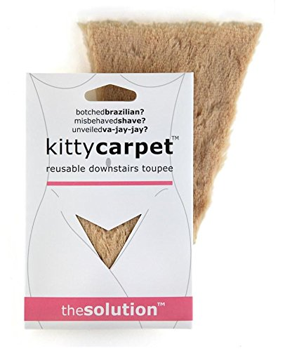FASHION FIRST AID: Kitty Carpet: Schamhaar-Toupet Vagina-Perücke Wiederverwendbar Mit Klebestreifen Hautfarbe (Go Kostüme Erwachsene Für Tänzerin Go)