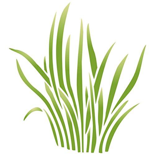 Gras Schablone, wiederverwendbar, große Sedge Blätter Baby Kinder Kindergarten Wand–Vorlage, auf Papier Projekte Scrapbook Tagebuch Wände Böden Stoff Möbel Glas Holz etc. Größe S
