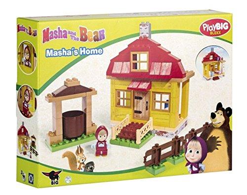 Preisvergleich Produktbild BIG 57096 PlayBIG Bloxx Mascha und der Bär Masha's Home Spielset