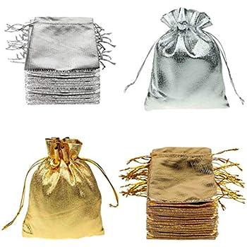 25/pcs 12/x 9/cm Organza Cordon de serrage Bijoux Candy Pochette Sacs Cadeau de mariage f/ête Sac cadeau