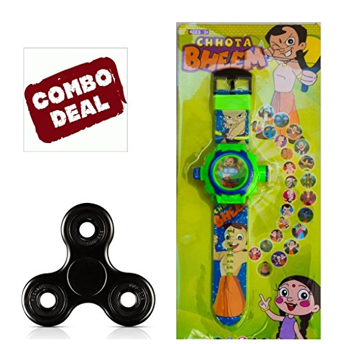 Exclusive Free Fidget Spinner + Arvel™ 24 unique Images Projector Digital Toy Watch for Kids - Best Return Gift for Kids (Chota Bheem)  available at amazon for Rs.239