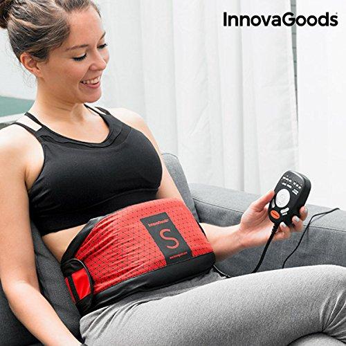 InnovaGoods Efecto Sauna S Cinturón Vibratorio, Unisex Adulto, Rojo, Talla Única