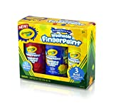 #2: Crayola 8-Ounce Primary Washable Fingerpaint (3 Count)
