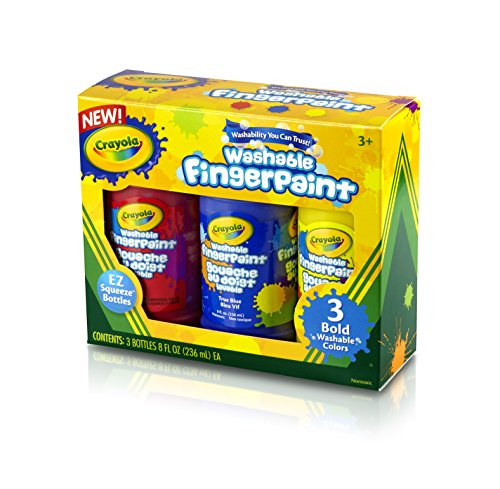 Crayola Washable Finger Paint 8oz 3/Pkg-Primary (Fingerpaint Crayola)