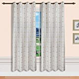 Starsglowing cortinas Visillo Bordado Con Anillas 140 X 245 cm Cortinas jacquard Estilo de la corte