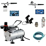 AS18K Complete Airbrush Compressor Kit PLUS Airbrushing...