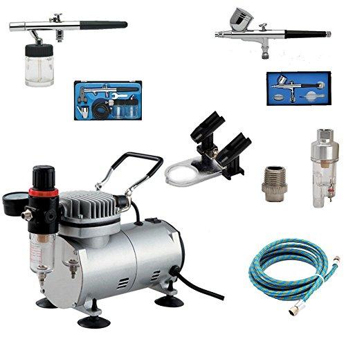 Airbrush Supply Online AS18K - Kit completo compressore d'aria per aerografo con...
