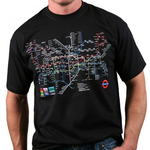 London Underground Transport for London - Tube Map T-Shirt (Black)